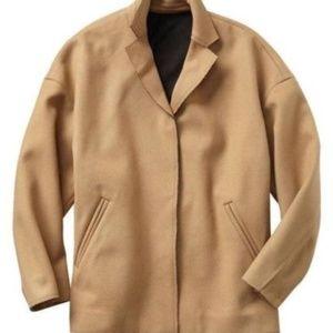 Gap Drop Shoulder Camel Wool Short Coat NWT